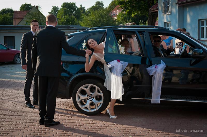 Wejście do samochodu